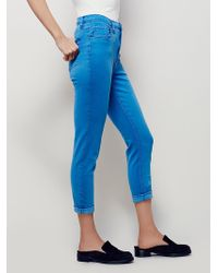Free People | Womens High Rise Roller Skinny | Lyst