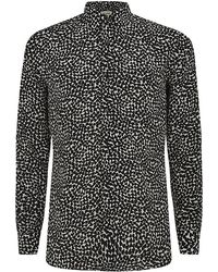 Saint Laurent Heart Print Shirt - Lyst