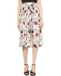 Jill Stuart Olivie Floral Skirt - Sand - Lyst