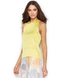 DKNY Sleeveless Bead-Trim Tiered Top - Lyst