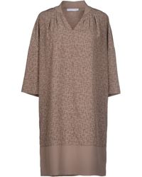 Fabiana Filippi Short Dress beige - Lyst