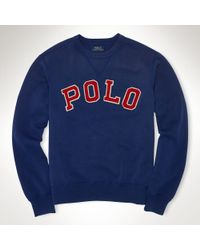 Polo Ralph Lauren Fleece Polo Crew Sweatshirt - Lyst