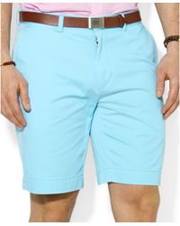 """Polo Ralph Lauren Classic-Fit Flat-Front 9"""" Chino Shorts - Lyst"""