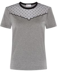RED Valentino Tulle Insert T-shirt - Lyst