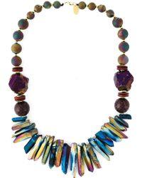 Katerina Psoma Mixed Stone Beaded Necklace - Lyst