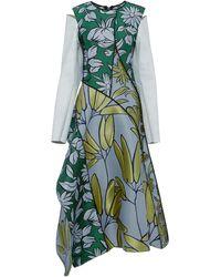 Marni Flower Jacquard Long Sleeve Dress - Lyst
