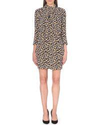 Sandro Graphic-print Crepe Dress - Lyst