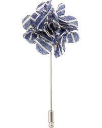 Original Penguin - Tucker Stripe Flower Lapel Pin - Lyst