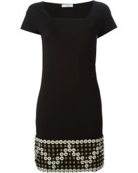 Versace Studded Hem Dress - Lyst