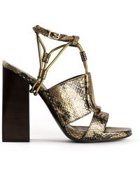 Lanvin Block Heel Sandals - Lyst