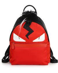Fendi | Monster Nylon Backpack | Lyst