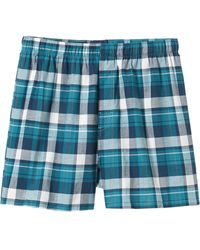 Old Navy Blue Patterned Boxers - Lyst