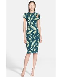 Versace Abstract Print Cutout Dress multicolor - Lyst