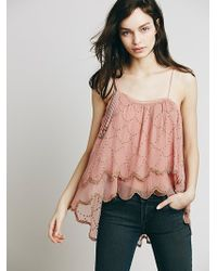Free People Womens Embellished One Shoulder Top - Lyst