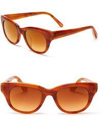 Elizabeth And James Anson Mirrored Wayfarer Sunglasses - Lyst
