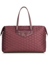 Knomo | Huntley Purple Lightweight Quilted Shoulder Bag | Lyst