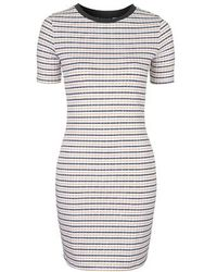 Topshop Tall Geometric Stripe Bodycon Dress - Lyst