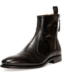Givenchy Backzip Tuxedo Boot - Lyst