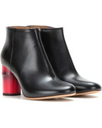 Acne Studios Luda Leather Ankle Boots - Lyst