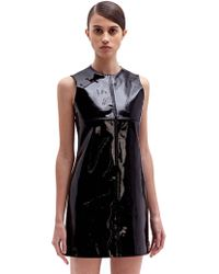 Paco Rabanne Womens Patent Leather Sleeveless Dress - Lyst