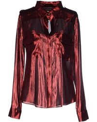 Lanvin Pailletteembellished Jersey Top red - Lyst