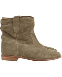 Isabel Marant Crisi Suede Wedge Boot - Lyst