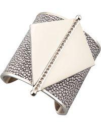 Paige Novick Maud Stingray Leather & Metal Cuff - Silver