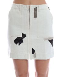 3.1 Phillip Lim | Skirt With Metal Chain Patchwork Embroidery | Lyst