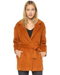 Designers Remix - Panda Short Coat - Burnt Orange - Lyst