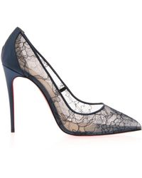 Christian Louboutin Follies 100mm Lace Pumps - Lyst