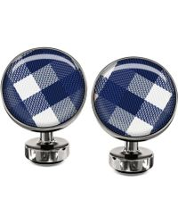 Würkin Stiffs Blue Plaid Cufflinks - Lyst
