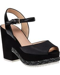 Tory Burch Brie Platform Sandal Black Leather black - Lyst