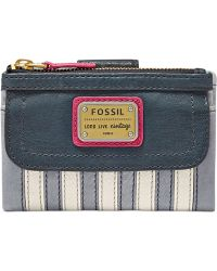 Fossil Emory Leather Patchwork Multifunction Wallet - Lyst