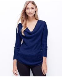 Ann Taylor Pointelle Cashmere Sweater - Lyst