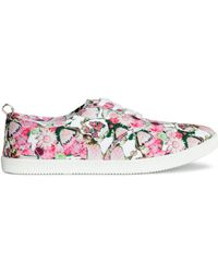 H&M Pink Canvas Sneakers - Lyst