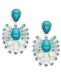 Lord & Taylor - Cluster Chandelier Earrings - Lyst