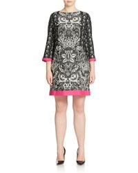 Eliza J Plus Printed Shift Dress - Lyst