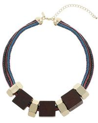 Topshop Square Wood Collar - Lyst