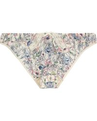 Elle Macpherson Indian Poppy Printed Stretch Crepe Briefs - Lyst