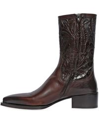 DSquared² - Embossed Leather Western Boots - Lyst