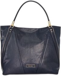 Calvin Klein   Premium Leather Tote   Lyst