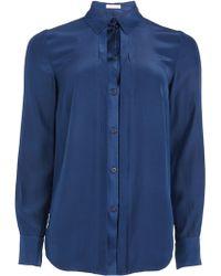 Matthew Williamson Navy Silk Shirt - Lyst