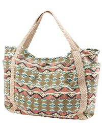 Volcom - 'native Drift' Cotton Canvas Tote - Lyst