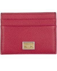 Dolce & Gabbana Leather Card Holder - Lyst