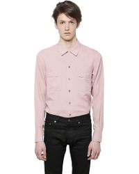 Saint Laurent Printed Viscose Shirt - Lyst
