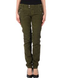 D&G Green Casual Pants - Lyst