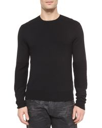 Ralph Lauren Black Label Ribbed Merino Wool Sweater - Lyst