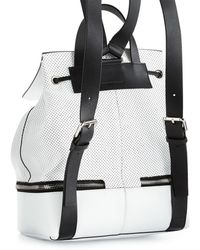 CoSTUME NATIONAL - Perforated Leather Backpack - Lyst