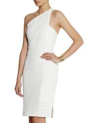 Roland Mouret Aralia One-Shoulder Stretch-Jacquard Dress white - Lyst