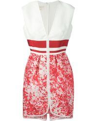 Giambattista Valli Printed Front Pleat Dress - Lyst